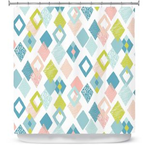 Premium Shower Curtains | Metka Hiti - Harlequin Pastel