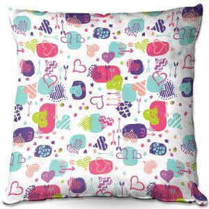 Throw Pillows Decorative Artistic   Metka Hiti - Hearts   Valentines Pattern