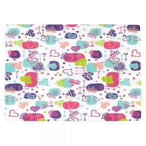Countertop Place Mats   Metka Hiti - Hearts   Valentines Pattern