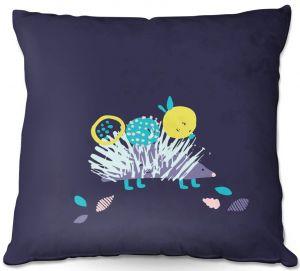 Throw Pillows Decorative Artistic   Metka Hiti - Hedgehog   Nature critter animals children