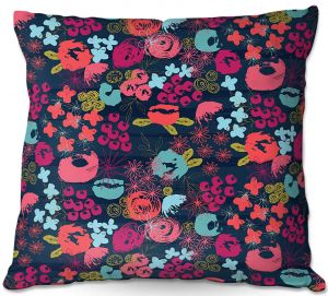 Throw Pillows Decorative Artistic | Metka Hiti - Island Floral