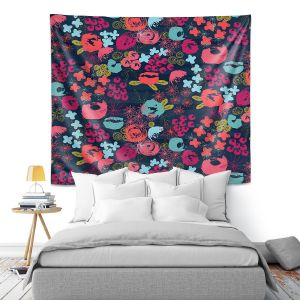 Artistic Wall Tapestry | Metka Hiti - Island Floral