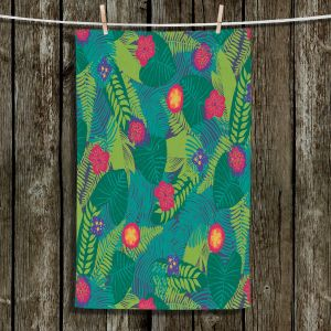 Unique Hanging Tea Towels | Metka Hiti - Jungle Flowers