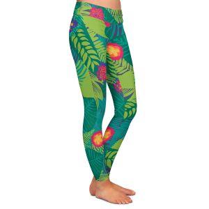 Casual Comfortable Leggings | Metka Hiti - Jungle Flowers