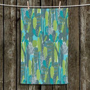 Unique Bathroom Towels   Metka Hiti - Land of Cacti   Nature desert cactus pattern graphic