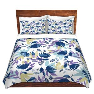 Artistic Duvet Covers and Shams Bedding | Metka Hiti - Leafs | Leaves Patterns