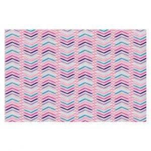 Decorative Floor Covering Mats | Metka Hiti - Line Flowers Arrows | Floral Flowers pattern