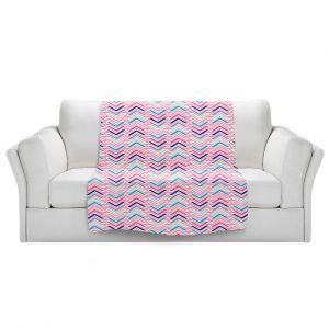 Artistic Sherpa Pile Blankets | Metka Hiti - Line Flowers Arrows | Floral Flowers pattern