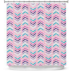 Premium Shower Curtains | Metka Hiti - Line Flowers Arrows
