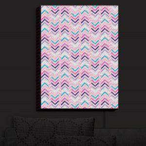 Nightlight Sconce Canvas Light | Metka Hiti - Line Flowers Arrows | Floral Flowers pattern
