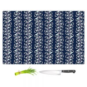 Artistic Kitchen Bar Cutting Boards | Metka Hiti - Lined Flowers | Floral Flowers pattern