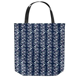 Unique Shoulder Bag Tote Bags | Metka Hiti - Lined Flowers | Floral Flowers pattern