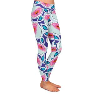 Casual Comfortable Leggings | Metka Hiti - Line Flowers Vine