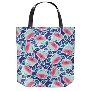 Unique Shoulder Bag Tote Bags | Metka Hiti - Line Flowers Vine | Floral Flowers pattern