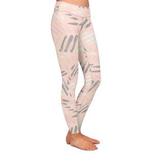 Casual Comfortable Leggings   Metka Hiti - Lines Pink