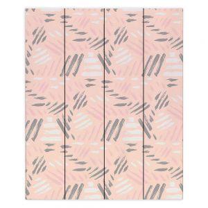 Decorative Wood Plank Wall Art |Metka Hiti - Lines Pink