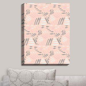 Decorative Canvas Wall Art | Metka Hiti - Lines Pink | Lines Patterns