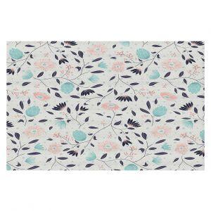 Decorative Floor Coverings | Metka Hiti - Midnight Bloom Blue Pink