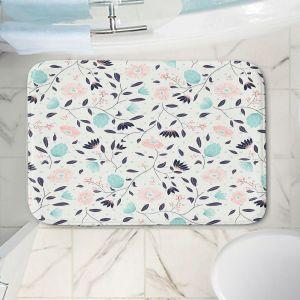 Decorative Bathroom Mats | Metka Hiti - Midnight Bloom Blue Pink