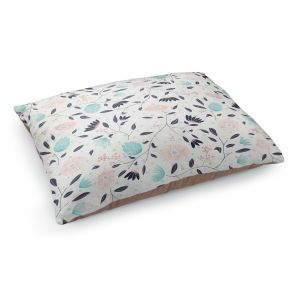 Decorative Dog Pet Beds | Metka Hiti - Midnight Bloom Blue Pink