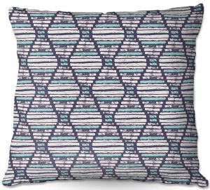 Throw Pillows Decorative Artistic | Metka Hiti - Midnight Light Blue