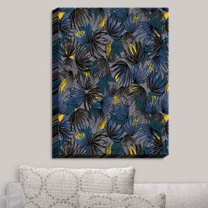 Decorative Canvas Wall Art   Metka Hiti - Modern Floral Blue   Patterns Plants