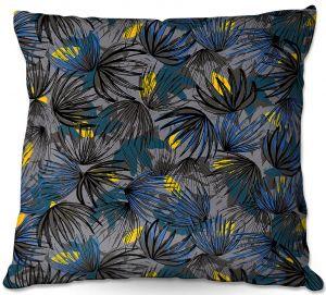 Throw Pillows Decorative Artistic | Metka Hiti - Modern Floral Blue