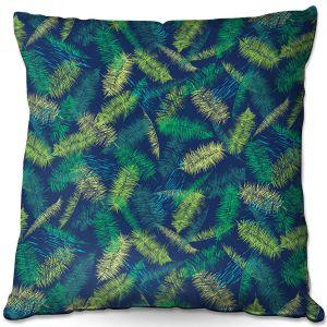 Throw Pillows Decorative Artistic | Metka Hiti - Palm Leafs Green | Leaves Patterns