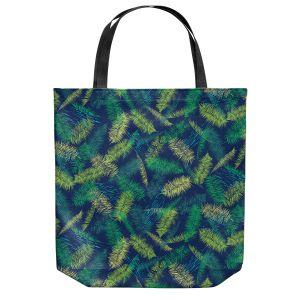 Unique Shoulder Bag Tote Bags | Metka Hiti - Palm Leafs Green | Leaves Patterns