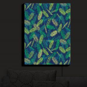 Nightlight Sconce Canvas Light | Metka Hiti - Palm Leafs Green | Leaves Patterns