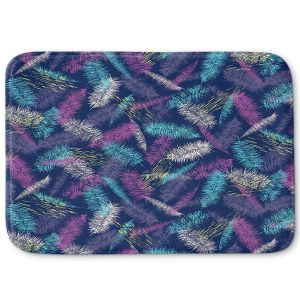 Decorative Bathroom Mats | Metka Hiti - Palm Leafs Purple | Leaves Patterns