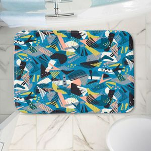 Decorative Bathroom Mats | Metka Hiti - Patch Work Geos | Abstract shapes pattern triangles arrows etches
