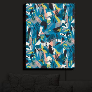 Nightlight Sconce Canvas Light | Metka Hiti - Patch Work Geos