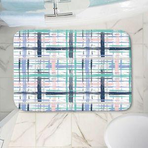 Decorative Bathroom Mats | Metka Hiti - Plaid Pink Blue Teal