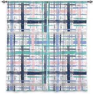 Decorative Window Treatments   Metka Hiti - Plaid Pink Blue Teal