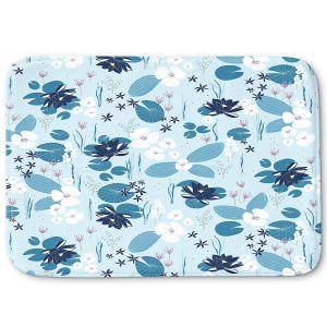 Decorative Bathroom Mats | Metka Hiti - Pond | Floral Flowers pattern