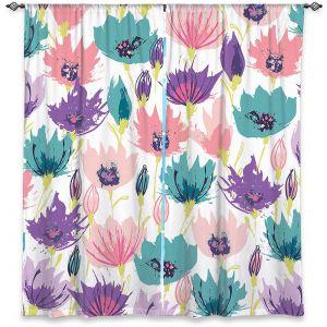 Decorative Window Treatments   Metka Hiti - Poppies   Flower nature graphic pattern pastel