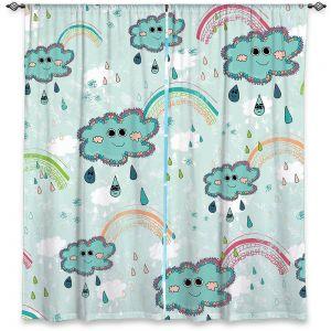 Decorative Window Treatments | Metka Hiti - Rainbow Clouds Blue