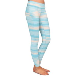 Casual Comfortable Leggings | Metka Hiti - Serene Blue Sea