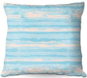Throw Pillows Decorative Artistic   Metka Hiti - Serene Blue Sea