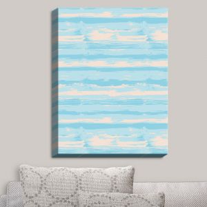 Decorative Canvas Wall Art | Metka Hiti - Serene Blue Sea | Abstract