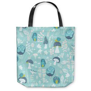 Unique Shoulder Bag Tote Bags  Metka Hiti - Snails Blue