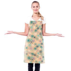 Artistic Bakers Aprons | Metka Hiti - Snowflakes Peach Teal | Snowflakes Patterns