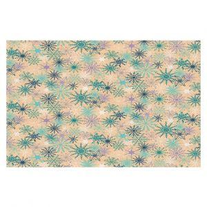 Decorative Floor Coverings   Metka Hiti - Snowflakes Peach Teal