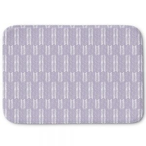Decorative Bathroom Mats | Metka Hiti - Southwest Arrows Purple
