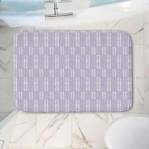 Decorative Bathroom Mats | Metka Hiti - Southwest Arrows Purple