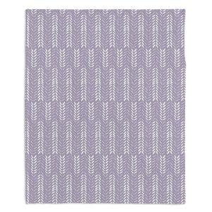 Artistic Sherpa Pile Blankets | Metka Hiti - Southwest Arrows Purple