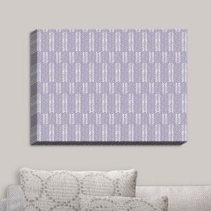 Decorative Canvas Wall Art | Metka Hiti - Southwest Arrows Purple | Arrows Patterns