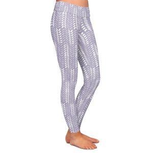 Casual Comfortable Leggings | Metka Hiti - Southwest Arrows Purple