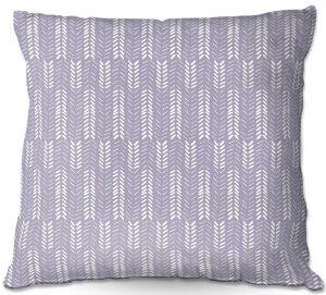 Throw Pillows Decorative Artistic | Metka Hiti - Southwest Arrows Purple